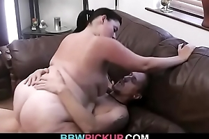 Fat aggravation bbw gf gives pill popper coupled with rides his bushwa