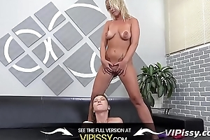 Vipissy - Lesbian babes share their make water and a vibrator