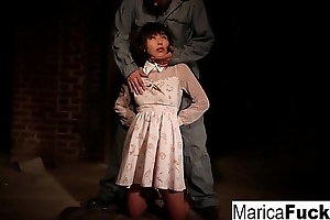 Marica gets scant and fondled all round the basement