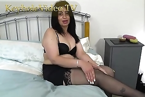 Milf CandyLips greater than Black Lingerie Masterbating herself greater than Bed